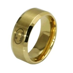 Other - Stainless Steel Gold Batman Ring Size 11